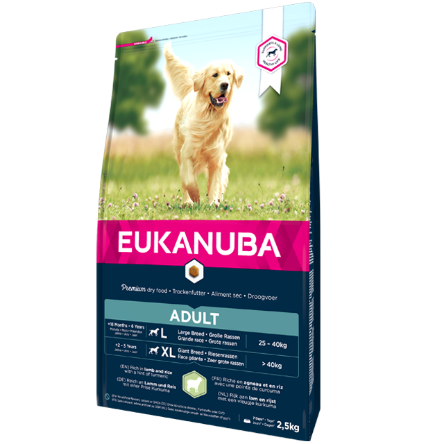 Eukanuba – Croquettes pour Chien Adult Grande Race – Agneau & Riz